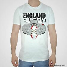 England Rugby Bulldog 2014 T-shirt English Sport Tshirt Try Christmas Xmas Tee