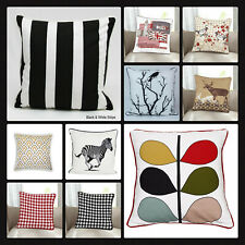 "New 100% Cotton's Designer Inspired Stripe  Luxury Cushion Covers Size 18""x18"""