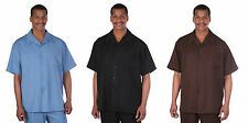 MEN'S SHORT SLEEVE TWO PIECE SET, CASUAL SOLID COLOR  M2954