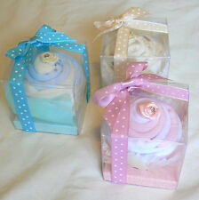 Baby Sock Cupcake In Gift Box. Baby Shower Maternity Leave. Cup Cake Bouquet
