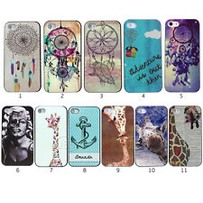 Vintage Feather Dream Catcher Kiss Giraffe Clip Hard Case For Iphone4 4s 5 5s 5C