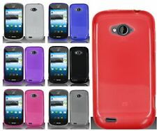For ZTE Savvy Z750C Flexible Plastic Multi Color Cell Phone Accessory Cover Case