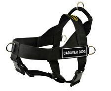 DT Universal No Pull Working Dog Harness with Velcro Patch CADAVER DOG
