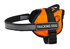 "Dean & Tyler ""DT Works"" Orange Nylon Dog Harness with Removable Patches"