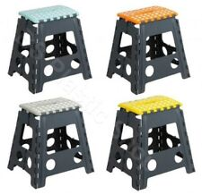 BS~MULTI PURPOSE FOLDING STRONG STEP STOOL LARGE/SMALL BLACK/BLUE/PURPLE/WHITE