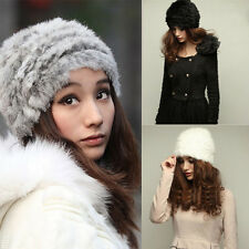 1pc Womens Ladies Nice Winter Warm Fashion Faux Rabbit Fur Knitted Hat Cap Hot