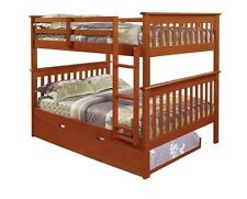 FULL OVER FULL BUNK BEDS  - CHOICE OF TRUNDLE OR STORAGE DRAWERS - ESPRESSO