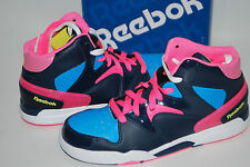 NEW REEBOK CLASSIC JAM HIGH TOP SNEAKERS shoes 5.5 6 girls youth navy blue pink