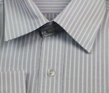 MENS BUSINESS/CASUAL/DRESS/WORK LONG SLEEVE BLUE WHITE SHIRT SHIRTS RRP $59.95!