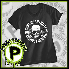Sons of Anarchy - Skull Logo Black Female T-Shirt by Caprice