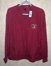 New Mens M ANTIGUA Golf National Florida State Univ FSU Seminoles L/S Wind Shirt