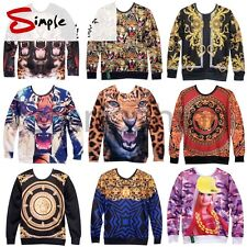 Womens Mens Space Galaxy 3D Animal scenery Sweatshirt Sweater Hoodies Top Jumper