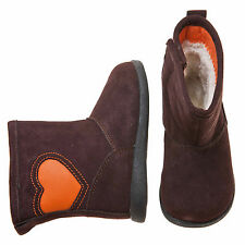 Little Blue Lamb Brown Heat Leather Shoes Boots Toddler Girl Boy 6 to 10 New Box