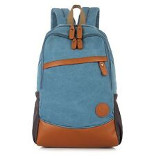 Canvas Backpack Rucksack School Bag Travel Outdoor Bag--MJH1125