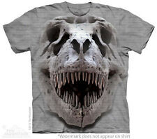 T-Rex Dinosaur Big Skull The Mountain Adult & Child Size T-Shirts