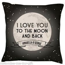 I love you to the moon B & W  Text in scroll box | Valentine | Wedding | Love