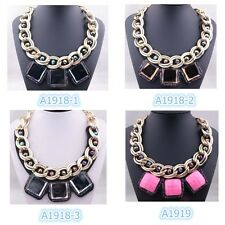 New Arrive Hot Selling Fashion Lady Noble Beautiful Big Bib Necklace A1918+1919g