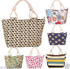 Fashion Womens Canvas Handbag Large Capacity Shopping Tote Shoulder  Beach Bag