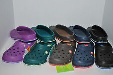 NWT CROCS CROCSLODGE SLIPPERS CLOGS 7 8 9 10 11 12 BLACK NAVY PURPLE GREEN BROWN