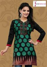 Trendy Gorgeous Black Color Kurti/Tunic Embroidery & Sequin work FREE SHIPPING