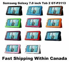 7.0 inch Samsung Galaxy Tab 2 GT-P3113 Flip PU Pounch Stand Leather Case Cover
