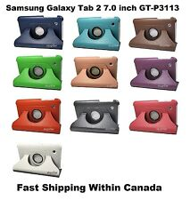 """7"""" Samsung Galaxy Tab 2 GT-P3113 360 Rotating PU Leather Stand Case Cover"""