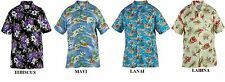 DUKE LONDON HAWAIIN PRINT SHORT SLEEVED SHIRTS 1XL TO 8XL, 4 STYLES