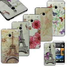 New Beautiful Pattern Design Hard Back Case Cover Skin For HTC One M7 New Year