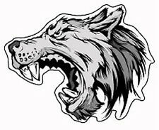 Extremely Angry Wolf Screaming Fangs Vinyl Sticker (xbox, ps4, car, bumper)