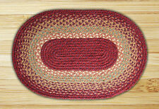 Capitol Earth Rugs - Braided Oval Burgundy/Maroon/Sunflower Rug - New C-104