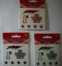NEW SCHOOL SPIRIT TATTOOS *Your Choice Color * Go Fight Win #1   Temporary 7 pc