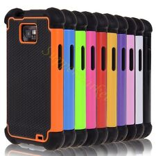For Samsung Galaxy S2 II I9100 HyBrid Rugged Rubber Matte Hard Case Cover +Pen