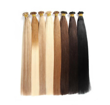 """100% HUMAN INDIA REMY Pre Bonded Nail/U Tip HAIR EXTENSIONS 18""""-22""""DOUBLE DRAWN"""