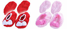 Baby Slippers Handmade Crocheted Girls Crib Shoes With Bow Special Accessory