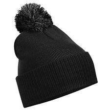Snowstar Beanie Bobble Hat in Black, Grey, Navy, Cream, Burgundy for Men & Women