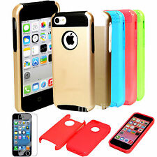 Colorful Combo PC Hybrid Rugged Proof Hard Soft Case Cover For Apple iPhone 5C C