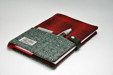 Luxurious Harris Tweed fabric A5 notebook cover - Bespoke Collection