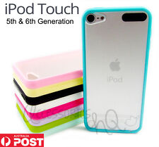 Gel Rubber Candy Bumper Transparent Back Case Cover for iPod Touch 5 5th Gen