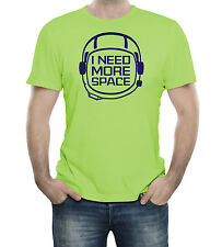 I Need More Space Austronaut Funny Humor Science Geek T-Shirt 100% Soft Cotton