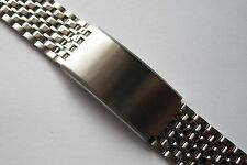 Beads of Rice Stainless Steel Watch Bracelet Satin polished Finish 18mm, 20mm