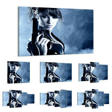 47 Shapes Canvas Picture Print Wall Art Sexy Erotic Woman Weapon Eyes 2647 E