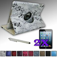 FOR APPLE iPad AIR 5 5TH PU LEATHER 360 DEGREE ROTATING STAND CASE COVER Swivel