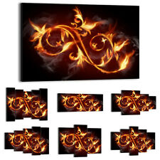 47 Shapes Canvas Picture Print Wall Art Abstraction Flames Fire Flowers 0173 E