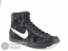 WOMENS NIKE BLAZER TRAINERS BLACK  PATTERN LEATHER MATERIAL SIZE UK 3.5 - 5.5