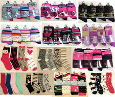 12 Pair Ladies/Women Assorted Fashion Designer Everyday Socks COTTON Size UK 4-6