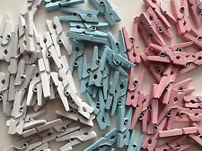 """144 Wooden Mini 1"""" inch Spring Clothespins Clothes Pins Craft NEW Wood Baby Pic"""