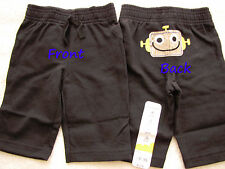 NWT 24 18 12 9 6 3 mos Jumping Beans Robot Graphic Pants Baby Toddler boy black