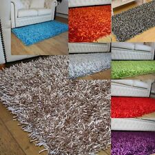 SPARKLY Shiny Shaggy rugs BNEW SXL sizes Beige,Blue,Green,Red WAS £54 Ltd Offer