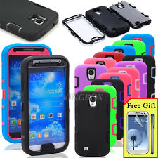 Heavy Duty Hybrid Shockproof Durable Hard Case Cover For Samsung Galaxy S4 I9500