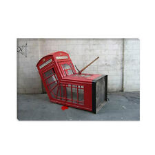 London Phone Booth Banksy Canvas Print Painting Reproduction